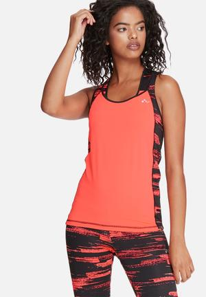 ONLY Play Zeus Training Top T-Shirts Coral & Black