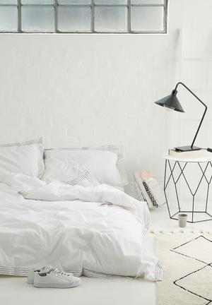 Sixth Floor Pleat Duvet Set Bedding 100% Cotton, 200T Percale