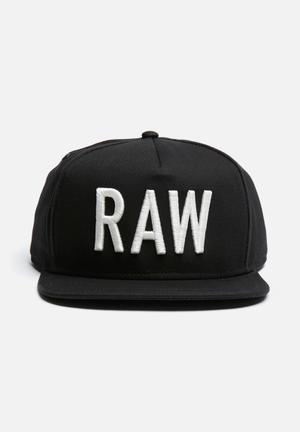 G-Star RAW Obaruh Snapback Cap Headwear Black & White