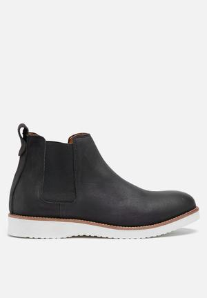 Selected Homme Rud Leather Chelsea Boot Dark Brown