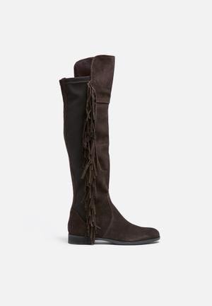 Vero Moda Anne Suede Overknee Boot Brown