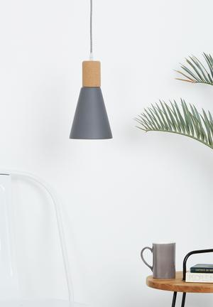 Eleven Past V Cork Pendant Lighting Metal & Cork