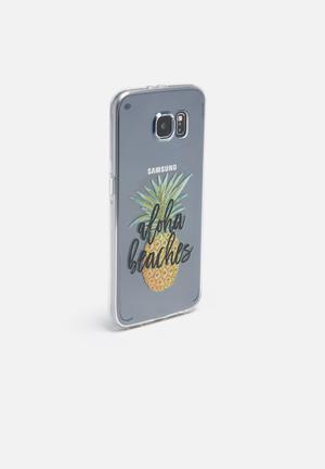 Hey Casey Aloha Beaches - IPhone & Samsung Cover Silver, Black, Yellow & Green