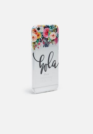Hey Casey Hola - IPhone & Samsung Cover Silver, Black, Pink & Yellow