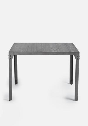 Sixth Floor Factory Square Dining Table Grey Brush