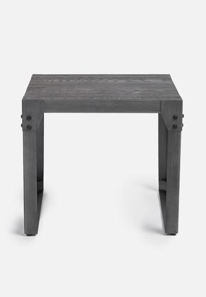 Sixth Floor Factory Side Table Grey Brush