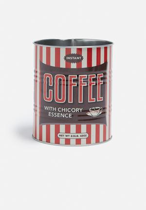 Temerity Jones Coffee Storage Tins Set Of 2 Kitchen Accessories Metal
