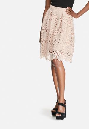 VILA Rasma Skirt Dusty Pink