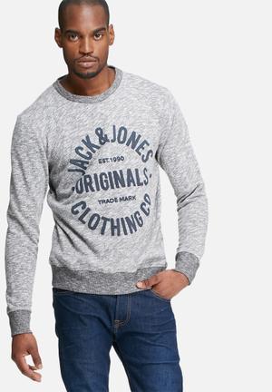 Jack & Jones Originals Clemens Sweat Hoodies & Sweatshirts Grey & Blue