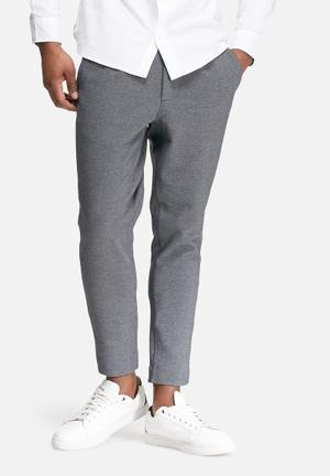 Jack & Jones Premium Simon Cropped Trouser Pants Grey Melange
