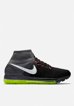 Nike Zoom All Out Flyknit Sneakers Black / White / Cool Grey / Volt