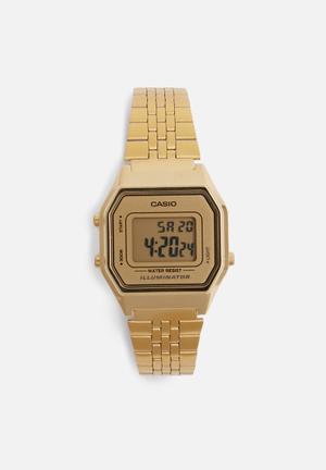 Casio Digital Retro LA680WGA-9DF Watches Gold