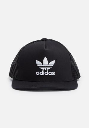 Adidas Originals Trefoil Trucker Headwear Black & White