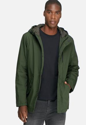 Only & Sons Vald Long Jacket Green
