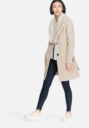 Vero Moda Safire Rich Wool Jacket Beige