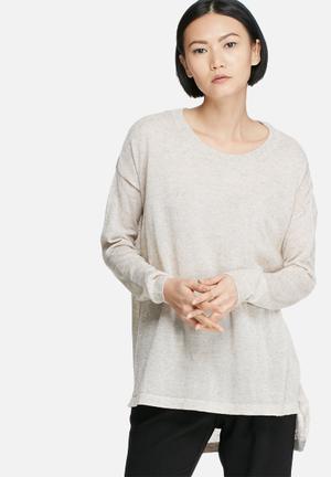 Vero Moda Altha Knit Blouses Beige Melange
