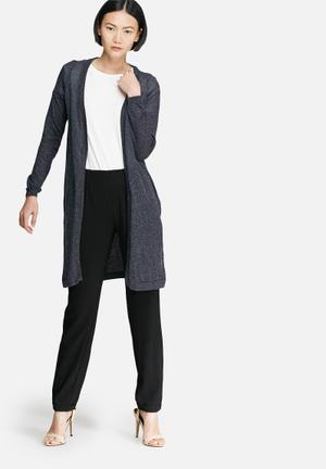 Vero Moda Altha Long Slit Cardigan Knitwear Navy