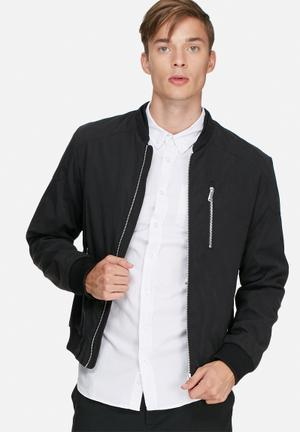 Jack & Jones Premium Logan Bomber Jacket Black