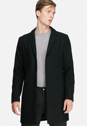 Jack & Jones Premium Christian Wool Coat Black