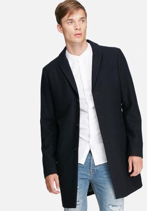 Jack & Jones Premium Christian Wool Coat Dark Navy