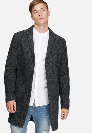 Jack & Jones Premium Christian Wool Coat Charcoal