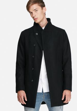 Jack & Jones Premium Gotham Wool Coat Black
