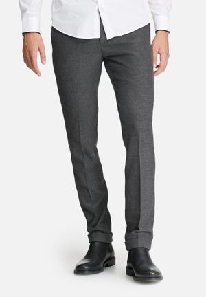 Selected Homme Page Tapered Trouser Pants & Chinos Dark Grey