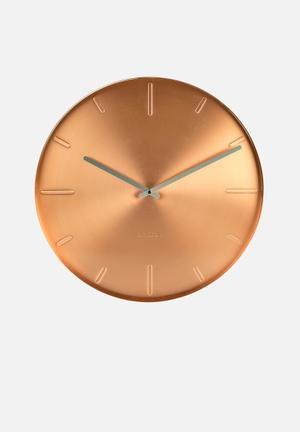 Present Time Belt Wall Clock Accessories Copper Plated
