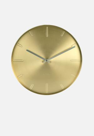Present Time Belt Wall Clock Accessories Brass Plated