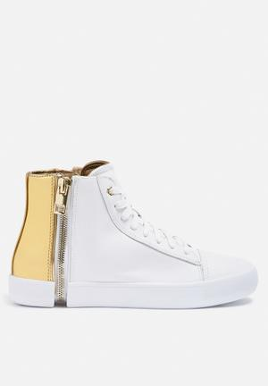 Diesel  S-Nentish Sneakers White & Gold
