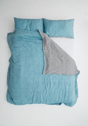 Sixth Floor Reversible Linen Duvet Set Bedding 100% Linen