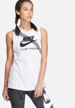 Nike Signal Sash Tank T-Shirts Grey & Black