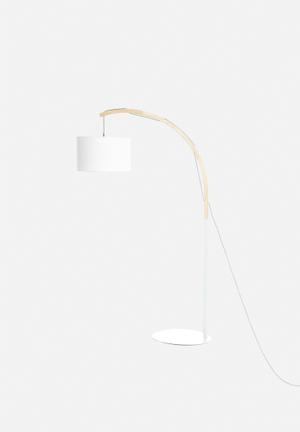 Sixth Floor Dipped Floor Lamp Lighting Metal & Wood
