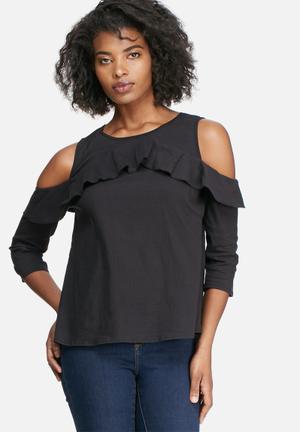Vero Moda Blis Cold Shoulder Top Blouses Black