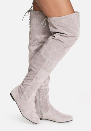 Daisy Street Chloe Over The Knee Boot Grey