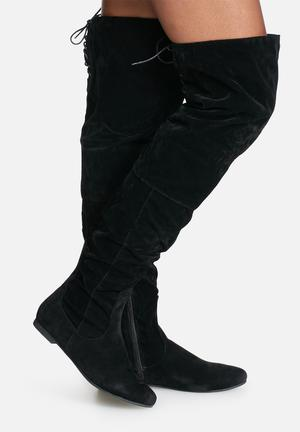 Daisy Street Chloe Over The Knee Boot Black