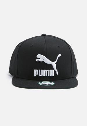 PUMA Colourblock Snapback Headwear Black & White