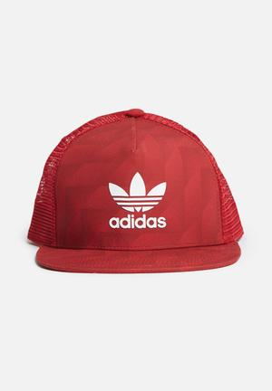 Adidas Originals Snapback Cap Headwear Red & White