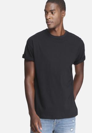 Basicthread Plain Oversized Boxy Tee T-Shirts & Vests Black