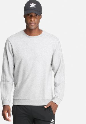 Adidas Originals Trefoil 3 Stripes Crew Sweat Hoodies & Sweatshirts Grey