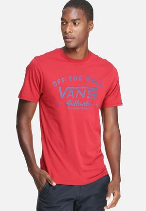 Vans Dalton Red T-Shirts & Vests Red & Blue