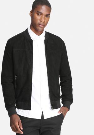 Jack & Jones Originals Leather 2 Jacket Black