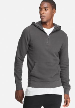 Jack & Jones Originals Campaign Hood Sweat Hoodies & Sweatshirts Grey
