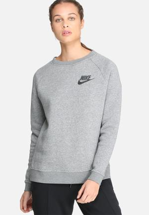 Nike Rally Crew Sweat Hoodies & Jackets Grey