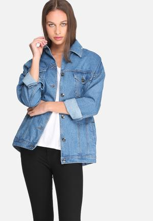 Tia oversized denim jacket