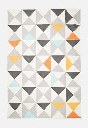 Sixth Floor Random Triangles Rug Handwoven Cotton Dhurrie