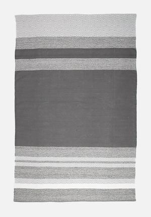 Sixth Floor Spaced Stripe Rug Handwoven Cotton Dhurrie