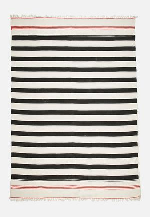 Sixth Floor Panama Stripe Cotton Rug 100% Cotton