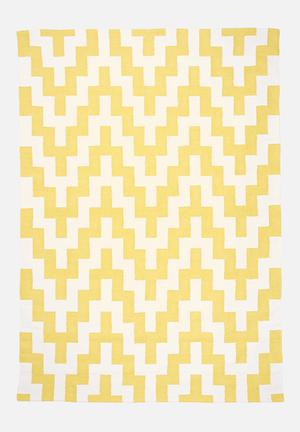 Yellow step rug