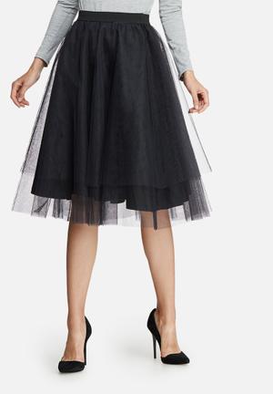 Dailyfriday Tuille Midi Skirt Black